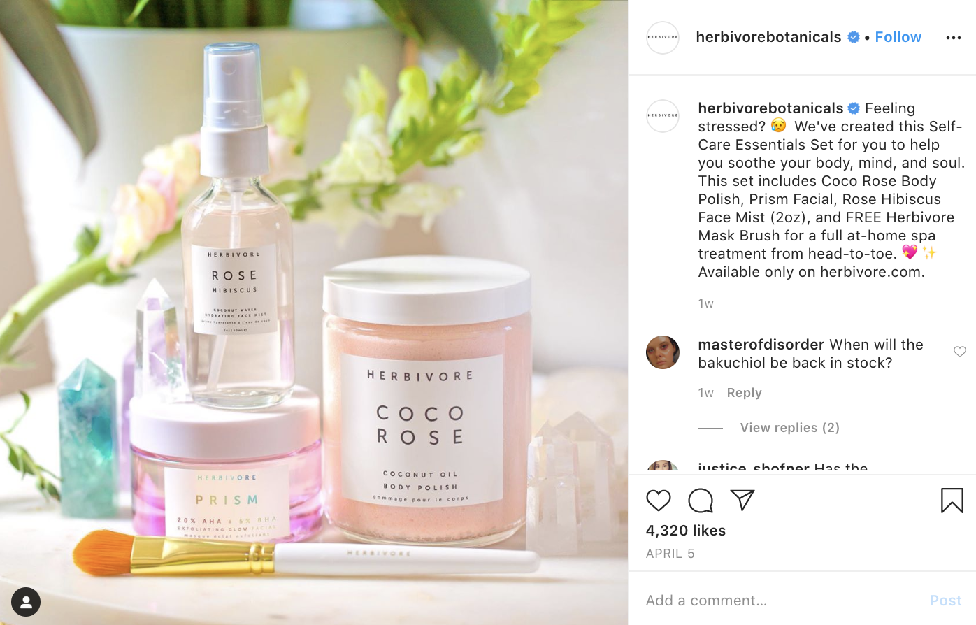 A follow up post featuring the Self-Care Essentials Set.