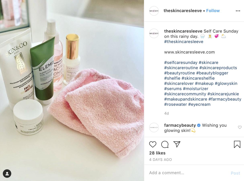 A customer post featuring Kiehl's Creamy Eye Treatment.